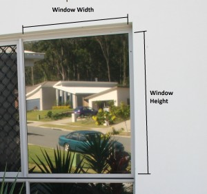 Measure your windows allowing 40mm in each direction